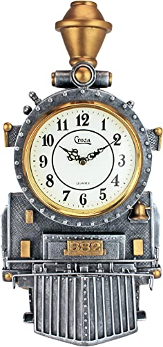 Design Toscano Casey Jones Steam Locomotive Train Sculptural Wall Clock