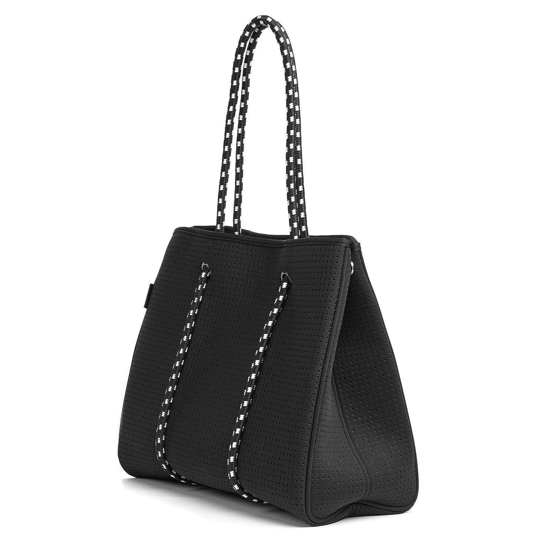 3913ed93842 Luna Multipurpose Neoprene Womens Tote Bag - Black. Beach Bag, Gym Bag,  Diaper Bag.: Amazon.co.uk: Luggage
