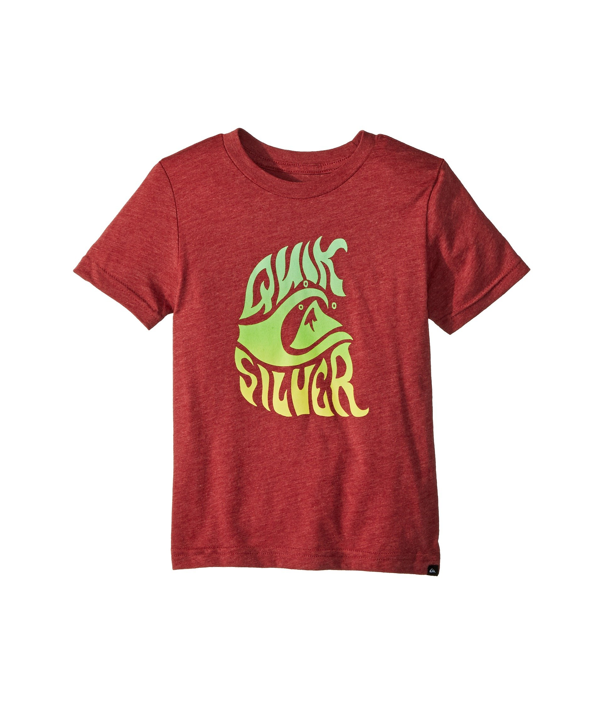 Quiksilver Little Boys' Baby Wave Youth Tee Shirt, Garnet Heather, 5