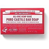 Dr. Bronner's Magic Soap Rose Bar Soap, 140-Gram