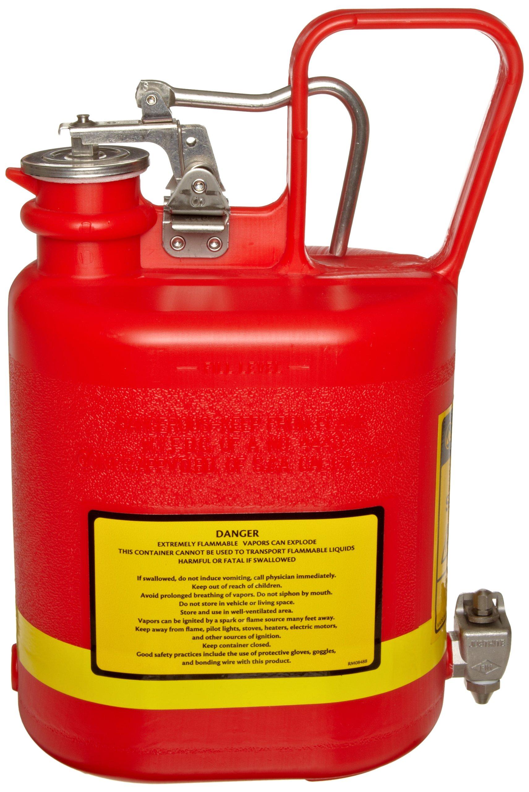 Justrite 14169 1 Gallon Laboratory Faucet Premium Polyethylene Safety Can