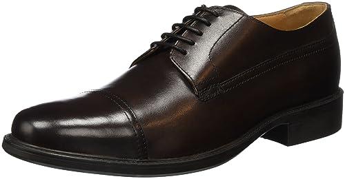 Geox Uomo Carnaby a, Zapatos de Cordones Oxford para Hombre, Negro (Black), 42 EU