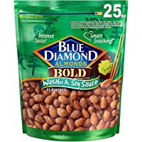 709gr./ 25 Ounce, Bold Wasabi & Soy Sauce, Blue Diamond Almonds. (NO Taxes ON This Item)