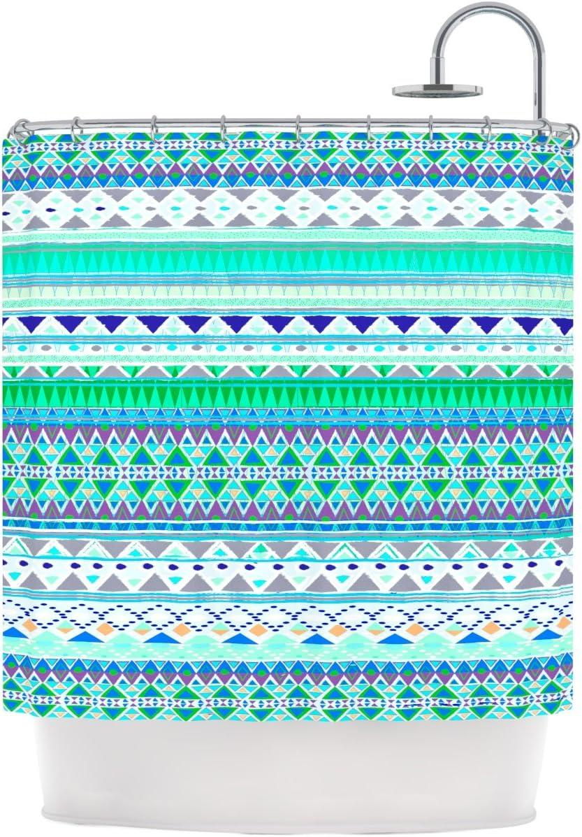 69 x 70 Shower Curtain KESS InHouse Nika Martinez Emerald Chenoa