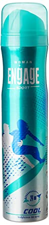 Engage Sport Cool for Her Deo Spray, 150ml / 165ml (Weight May Vary)