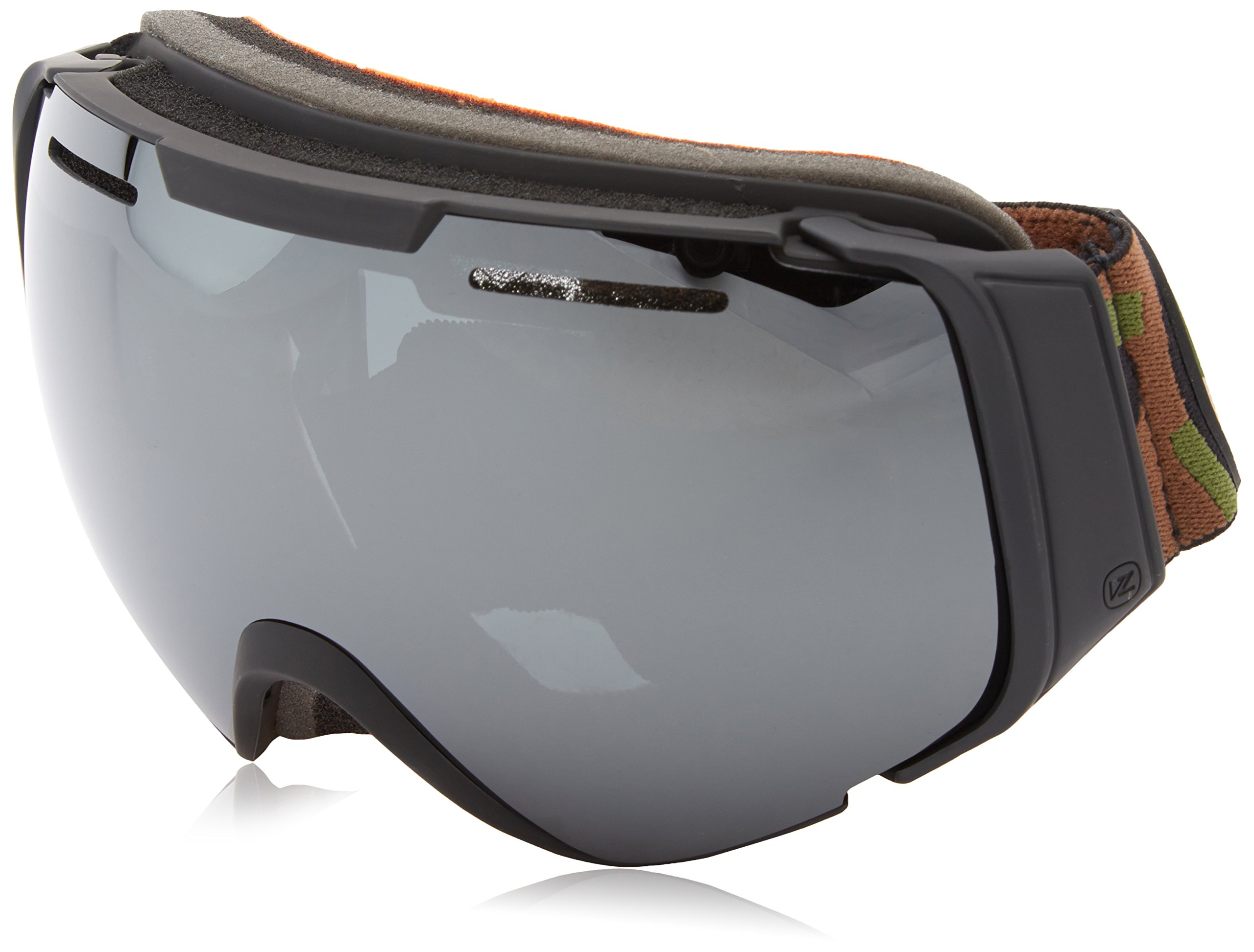 VonZipper Adult El Kabong Snow Goggles Eyewear, Black Satin/Black Chrome, OS