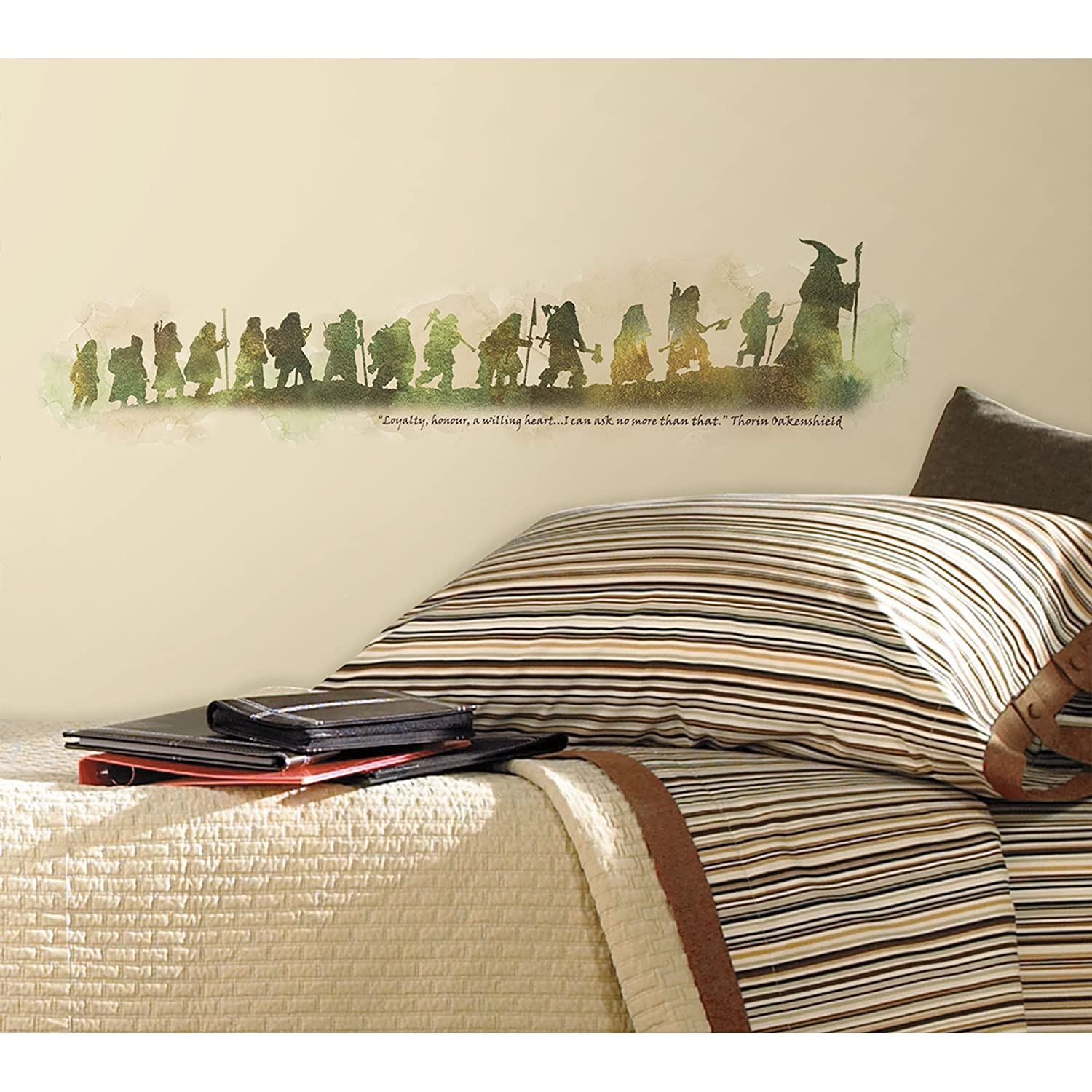 RoomMates RMK2161SCS The Hobbit Quote Peel And Stick Wall Decals    Decorative Wall Appliques   Amazon.com Part 55