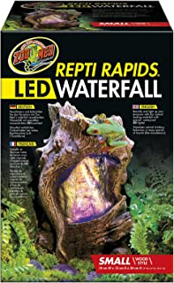 Zoomed ReptiRapids Waterfall, terrarium decoration with LED, drinking source for reptiles