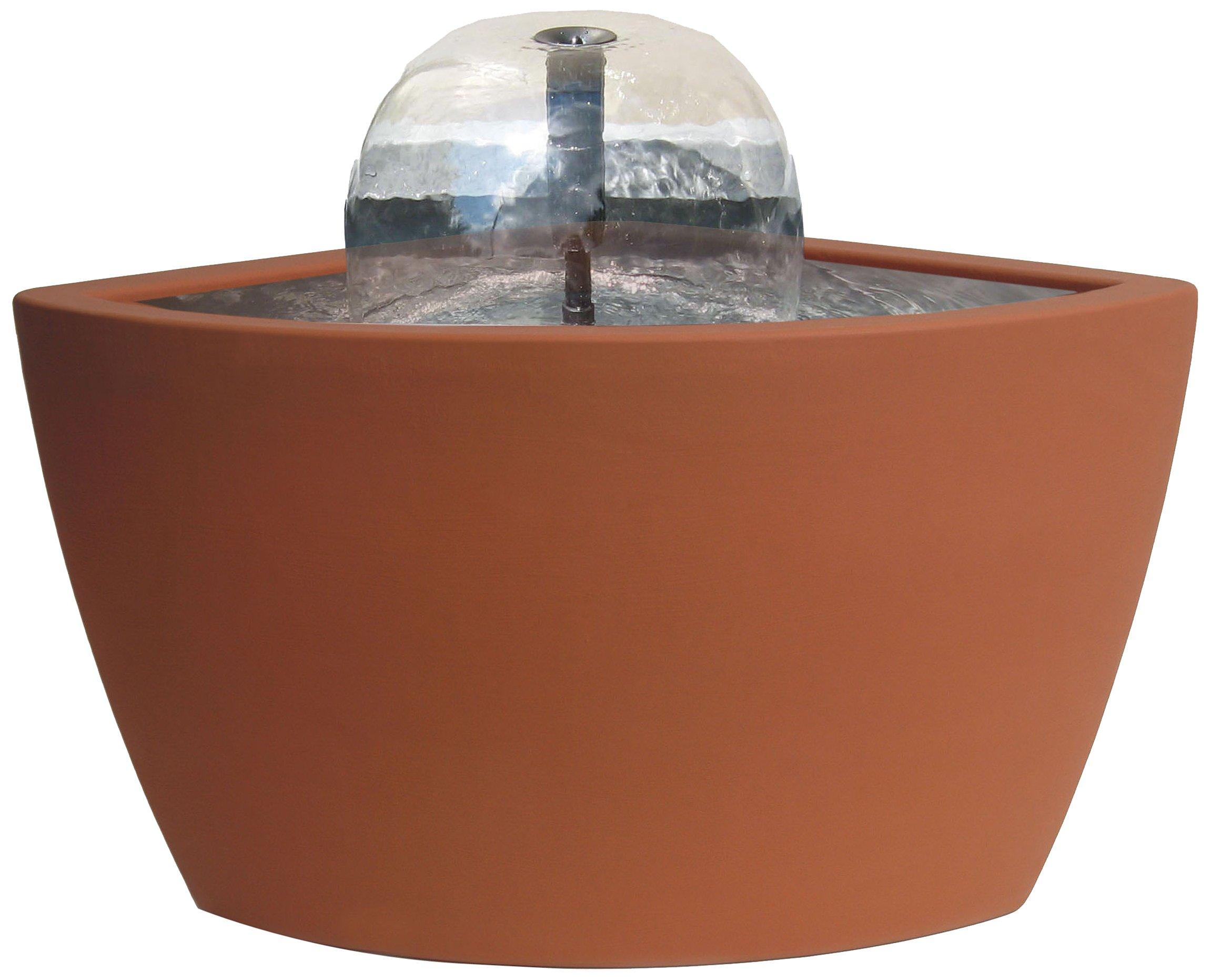 Algreen Hampton Contemporary Terra Cotta Water Feature and Pond, 35-Gallon