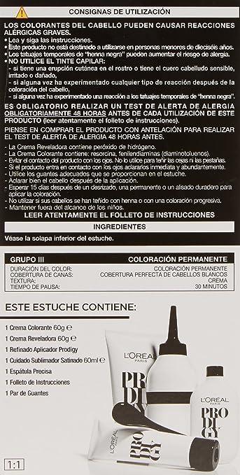 LOreal Paris Prodigy Coloración Sin Amoniaco 5.0 Castaño caoba claro Alezan