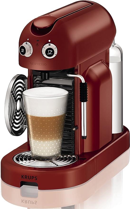 Nespresso Maestria Red XN8006 Krups - Cafetera monodosis (19 bares, Apagado automático, Vaporizador para la espuma), Color rojo: Amazon.es: Hogar