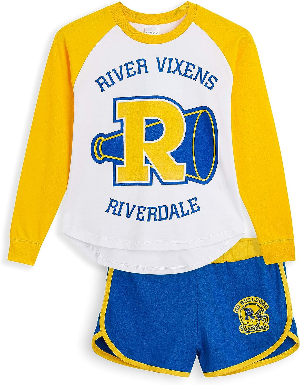 100/% Cotton Girls Clothes Girls Shorts and Long Sleeve T-Shirt Riverdale Girls Pyjamas Official Merchandise Gifts for Girls Teens 9-15 2 Piece Girls Short Pyjamas