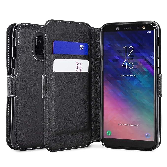 promo code 941f8 de663 Amazon.com: Olixar Samsung Galaxy A6 2018 Wallet Case - Genuine ...