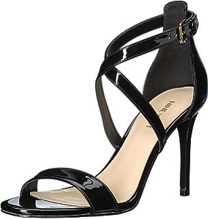 25b6deae5e Amazon.com | Nine West Women's Festivitie Heeled Sandal, Silver, 10 ...