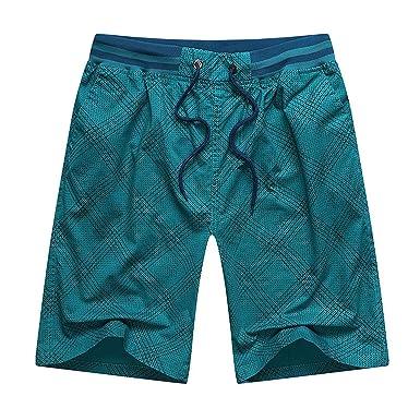 SUYUN Pantalón Cargo Pantalones Cortos para Hombres con ...