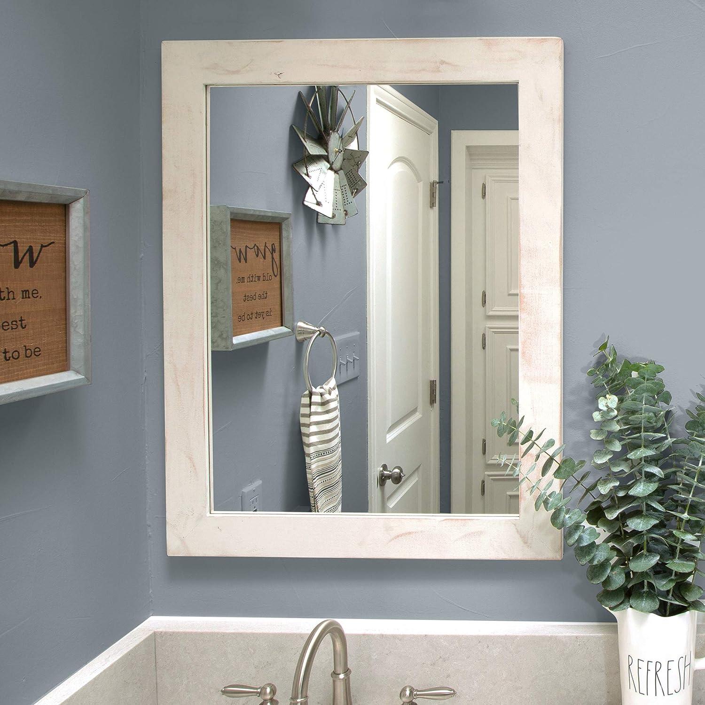 Amazon Com Modern Farmhouse Mirror For Bathroom Vanity
