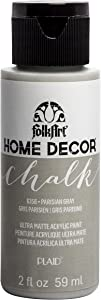 FolkArt Home Décor Chalk Furniture & Craft Paint in Assorted Colors, 2oz, Parisian Grey