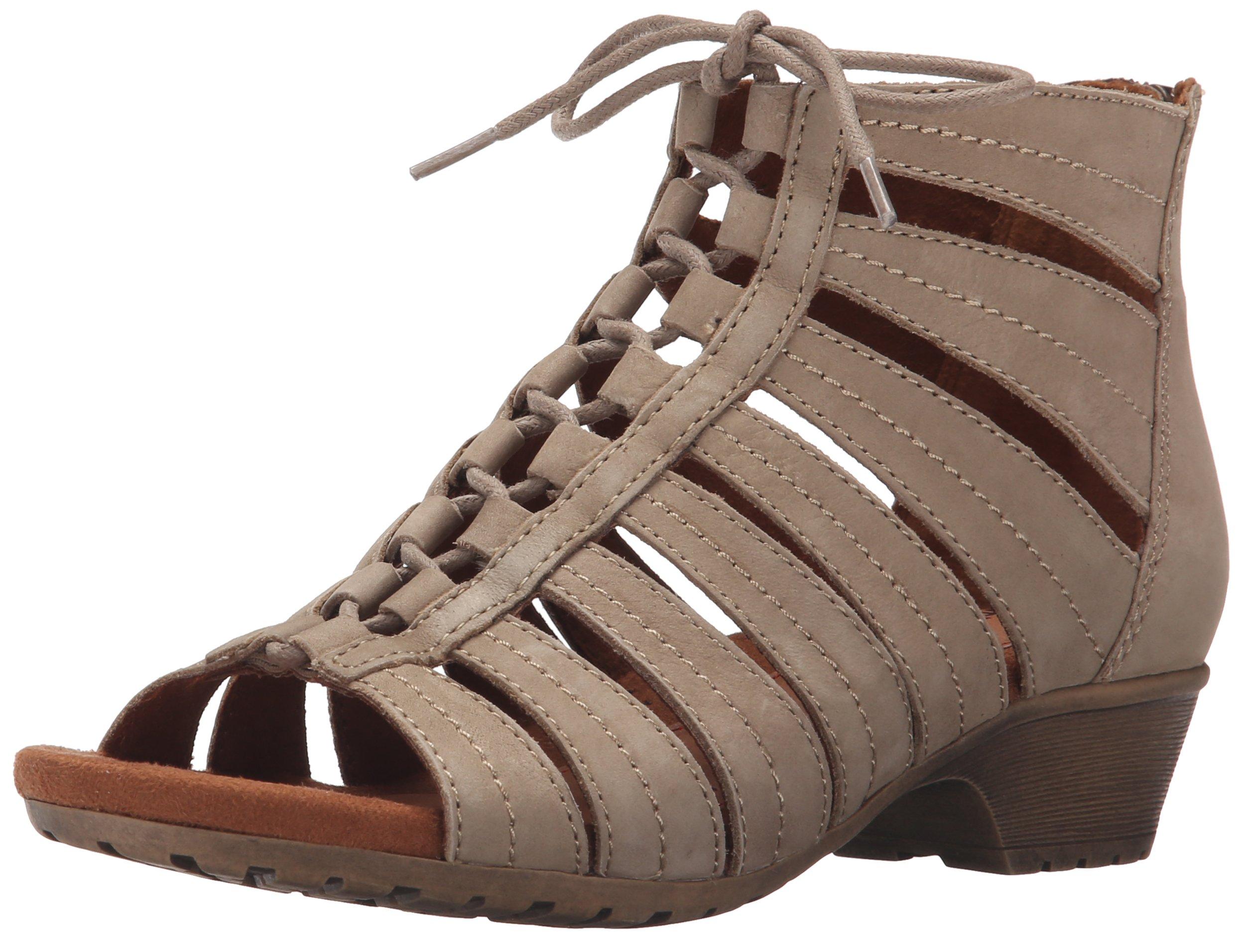 Cobb Hill Rockport Women's Gabby-CH Heeled Sandal, Khaki, 9 W US