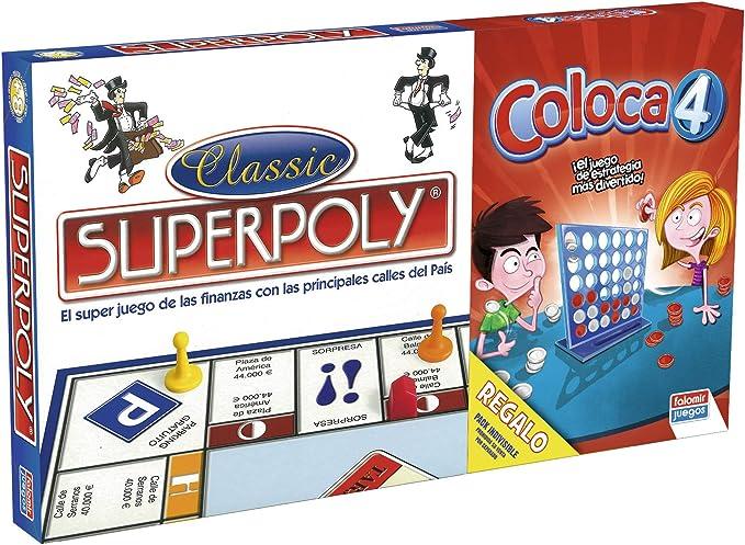 Falomir Superpoly + Coloca 4, Juego de Mesa, Clásicos, Multicolor ...