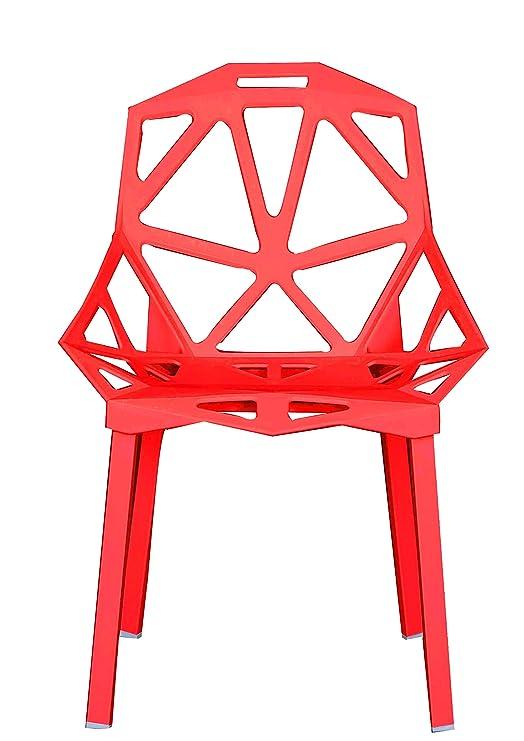 Amazon.com: Divano Roma Furniture - Juego de 2 sillas huecas ...