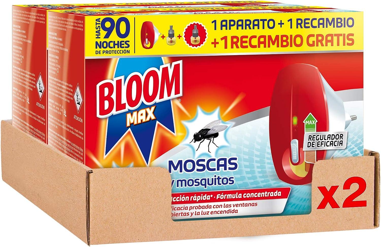Bloom Eléctrico Insecticida Líquido Max Aparato con 2 Recambios - Pack de 2
