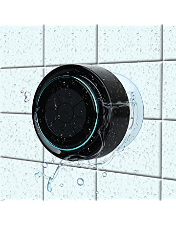 Altavoz Ducha Bluetooth,HAISSKY Impermeable Altavoz Inalámbrico Estéreo pares para todos Bluetooth dispositivos Samsung iPhone