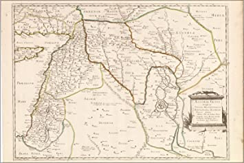 Babylon Karte.Amazon De 24 X 36 Poster Karte Von Israel Mesopotamia Babylon