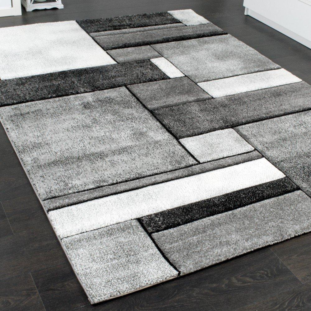 Paco Home Designer Teppich Wohnzimmer Kariert Wohnzimmer Teppich Teppich Modern Trendig Meliert in Grau, Grösse 200x290 cm 972cde