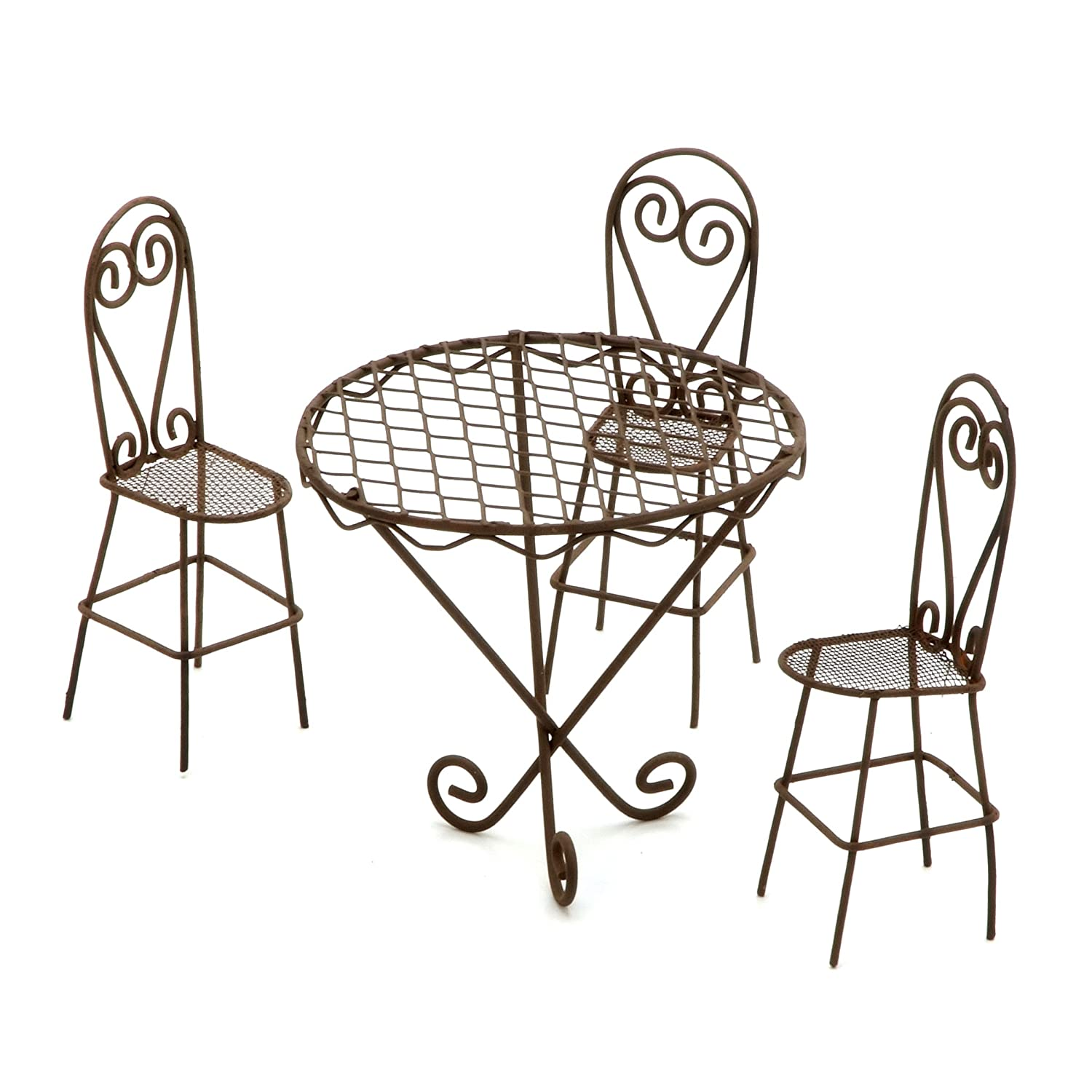 Darice Timeless Miniatures, Wire Garden Table and Chairs Set