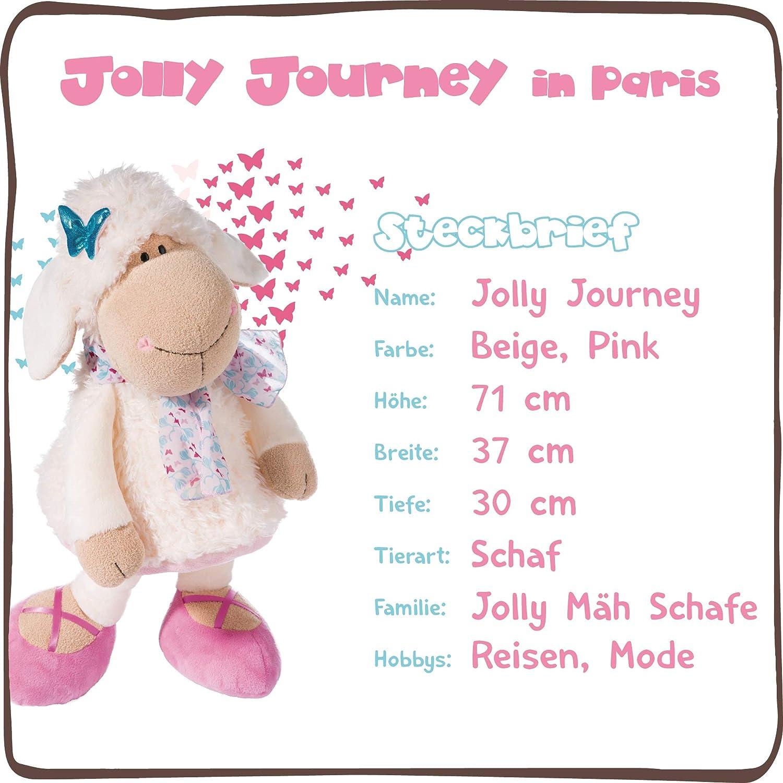 Beige//Pink NICI 44262 Kuscheltier Schaf Jolly Chic 10cm Schl/üsselanh/änger Porte-cl/és