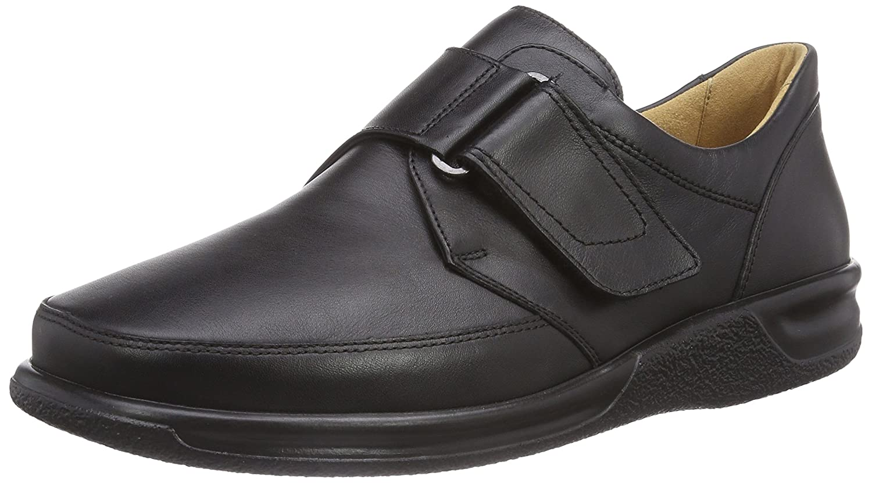 Ganter Sensitiv Kurt, Weite K - Zapatillas de casa de Cuero Hombre, Color Negro, Talla 40