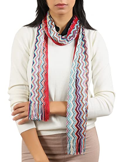 ba99385a3b52a Image Unavailable. Image not available for. Color: Missoni Turquoise/Purple Chevron  Scarf for Women