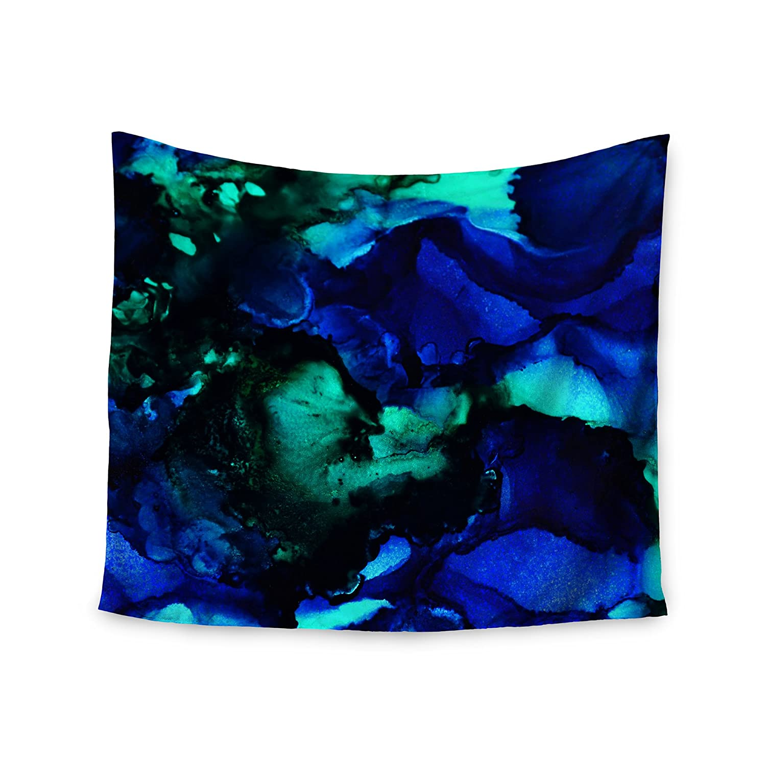 51 x 60 Wall Tapestry Kess InHouse Claire Day Neptune Blue Multicolor Painting