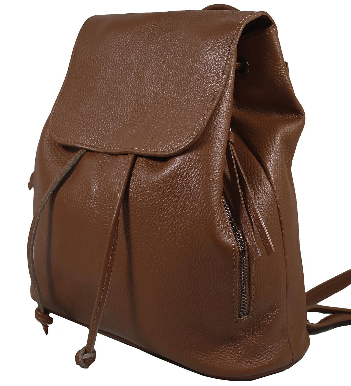 60293394ac212 Beige Echtleder Damen Rucksack Leichter Tagesrucksack Daypack Lederrucksack  Damenrucksack versch Ital Farben erhältlich