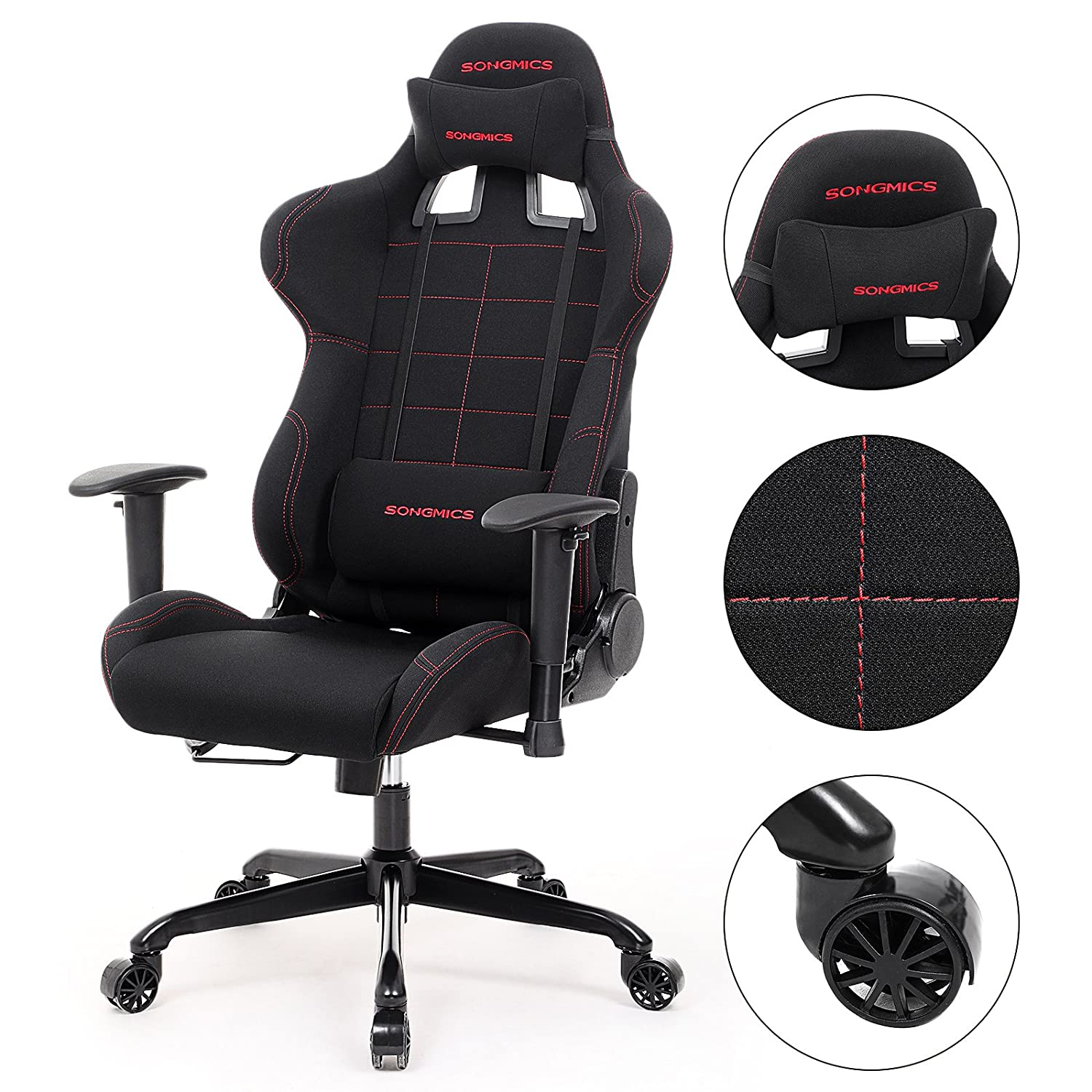 Amazon SONGMICS Gaming Chair Racing Sport Chair High back