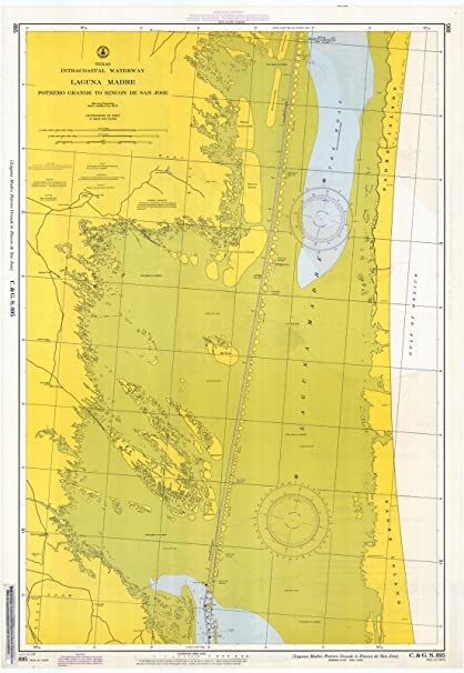 Amazon.com: 1967 Nautical Chart | Historical Laguna Madre : Potrero ...