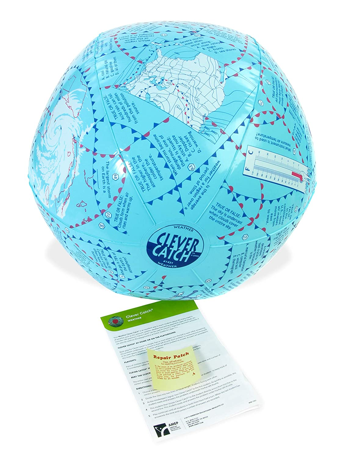 American Educational Vinyl Clever Catch Weather Ball, 24