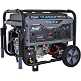 Pulsar G12KBN Heavy Duty Portable Dual Fuel Generator - 9500 Rated Watts & 12000 Peak Watts - Gas & LPG - Electric Start - Tr