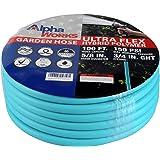 "AlphaWorks Garden Water Hose 5/8"" Inch x 100' Feet Heavy Duty Premium Commercial Ultra Flex Hybrid Polymer Hose Max Pressure"