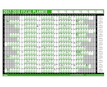 tallon fiscal wall planner 2018 19