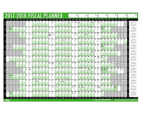 Fiscal Wall Planner  AmazonCoUk Office Products