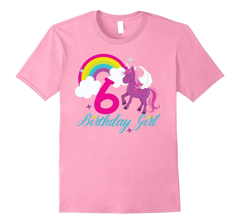 Rainbow Happy Birthday Unicorn Shirt 6th Tee RT