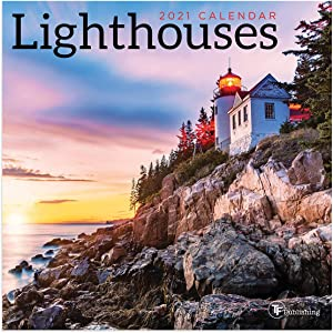 TF PUBLISHING 2021 Lighthouses Mini Monthly Calendar - Photography- Appointment Tracker - Contacts and Notes Page- Home or Office Planning/Organization in Compact Spaces - Premium Gloss Paper 7