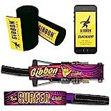 Gibbon Slacklines Surferline with treewear, Purple, 98ft(90ft line + 8ft Ratchet Strap with Reinforced Loop) incl. Ratchet Pr