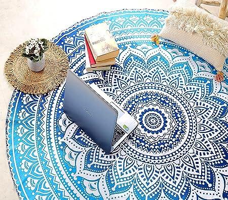 Beach Roundie Hippie Mandala Round Tapestry Boho Yoga Mat Bohemian Picnic Sheet