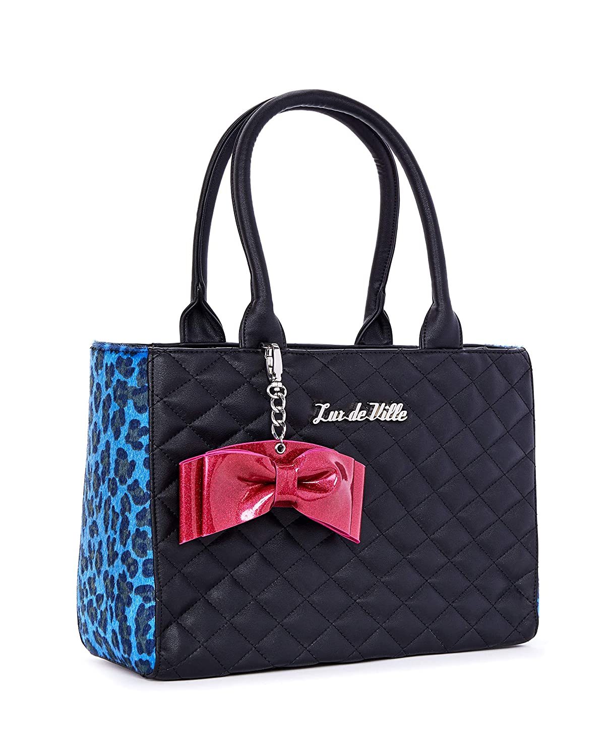bluee Leopard Sweet Pea Tote bluee Leopard and Black Matte  Limited Edition