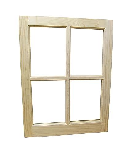 "wooded barn sash window traditional style 22\"" x 29\"" amazon com"
