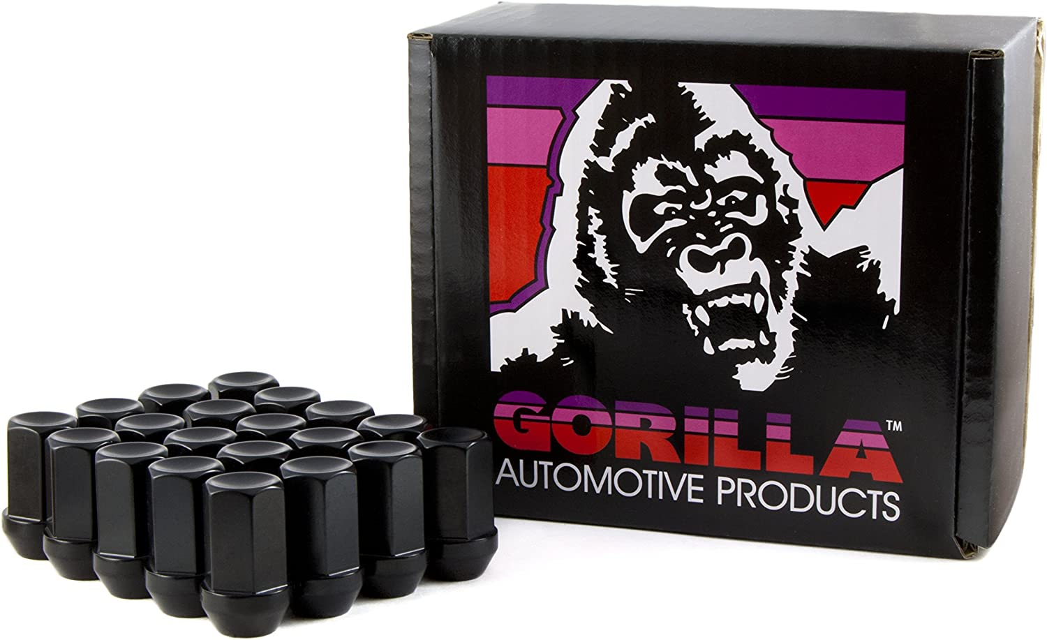 Pack of 20 Gorilla Automotive 45088-20 1//2 Thread Size Forged Steel Chrome Finish Open End Lug Nut,