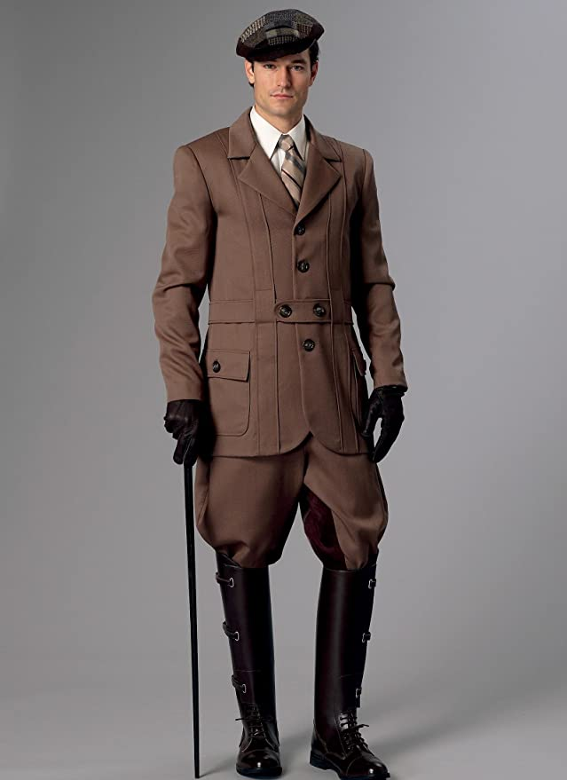 Victorian Men's Clothing, Fashion – 1840 to 1890s  Banded Jacket Breeches & Jodhpurs XM (Small-Medium-Large) $9.99 AT vintagedancer.com