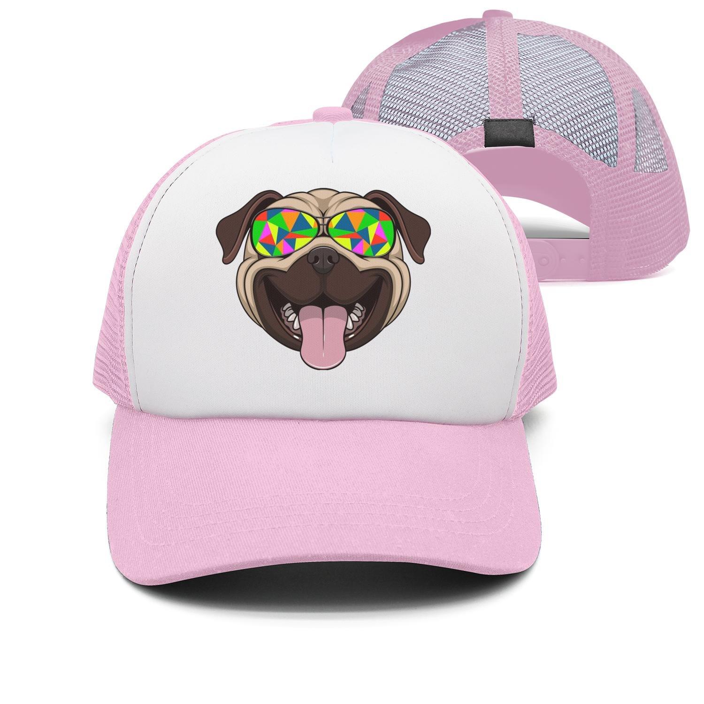 seventtynine Pugs Sunglasses Pug Dog Unisex Trucker Hats Snapback Hat Mesh Hats